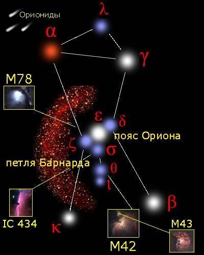 туманность Ориона М 42,